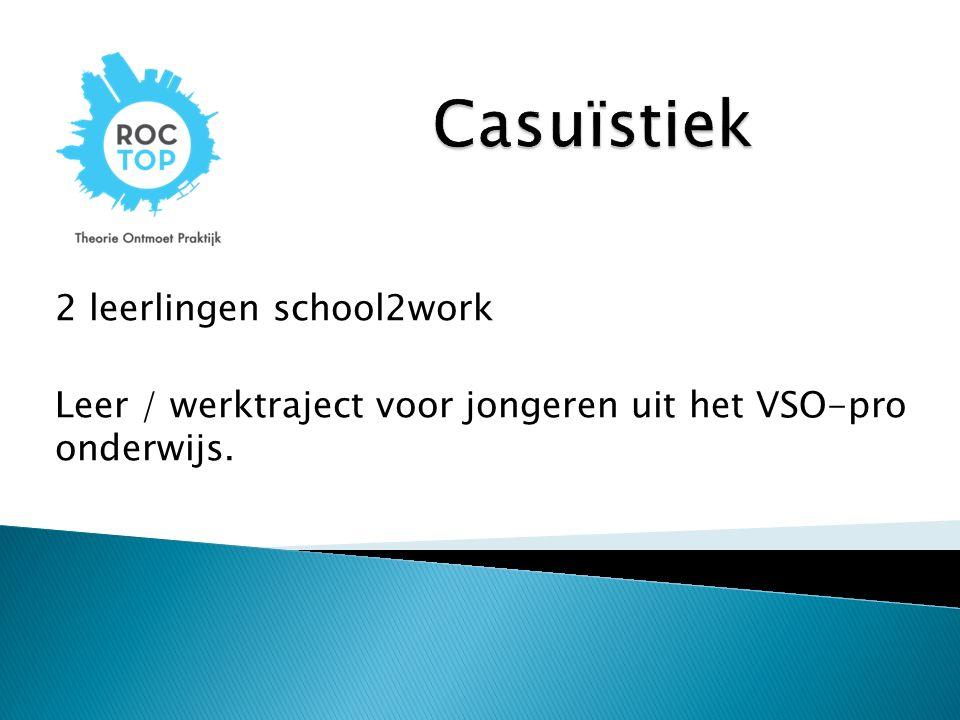 Casuïstiek 2 leerlingen school2work