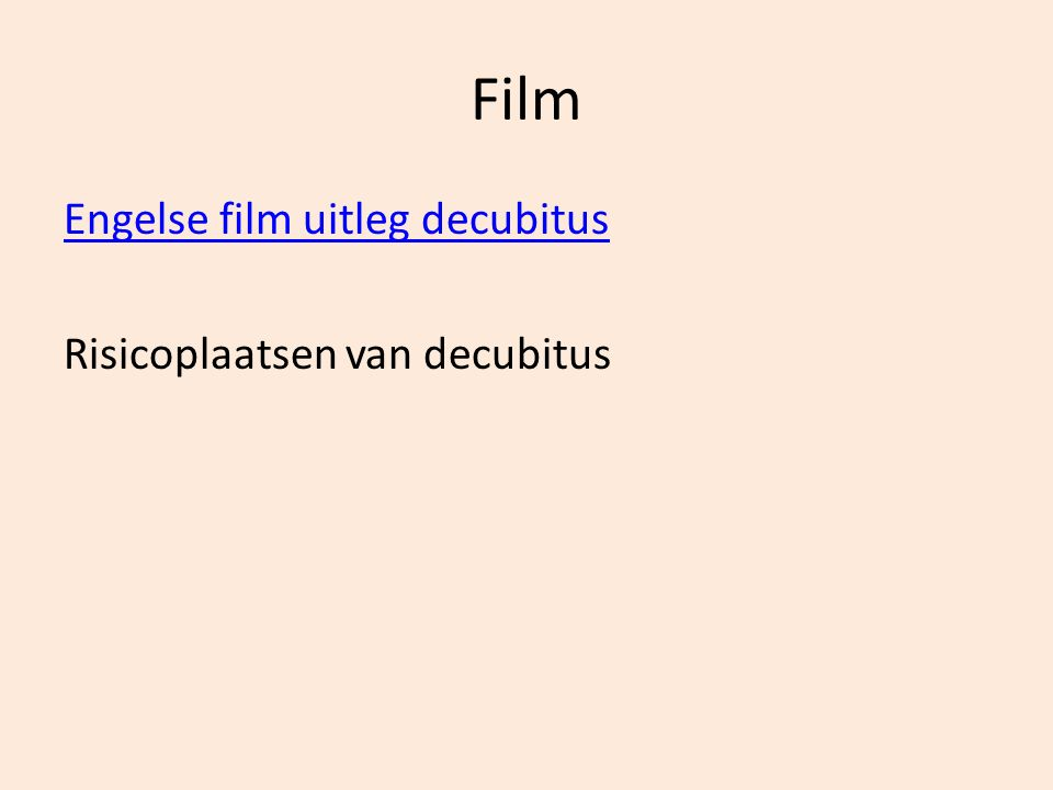 Film Engelse film uitleg decubitus Risicoplaatsen van decubitus
