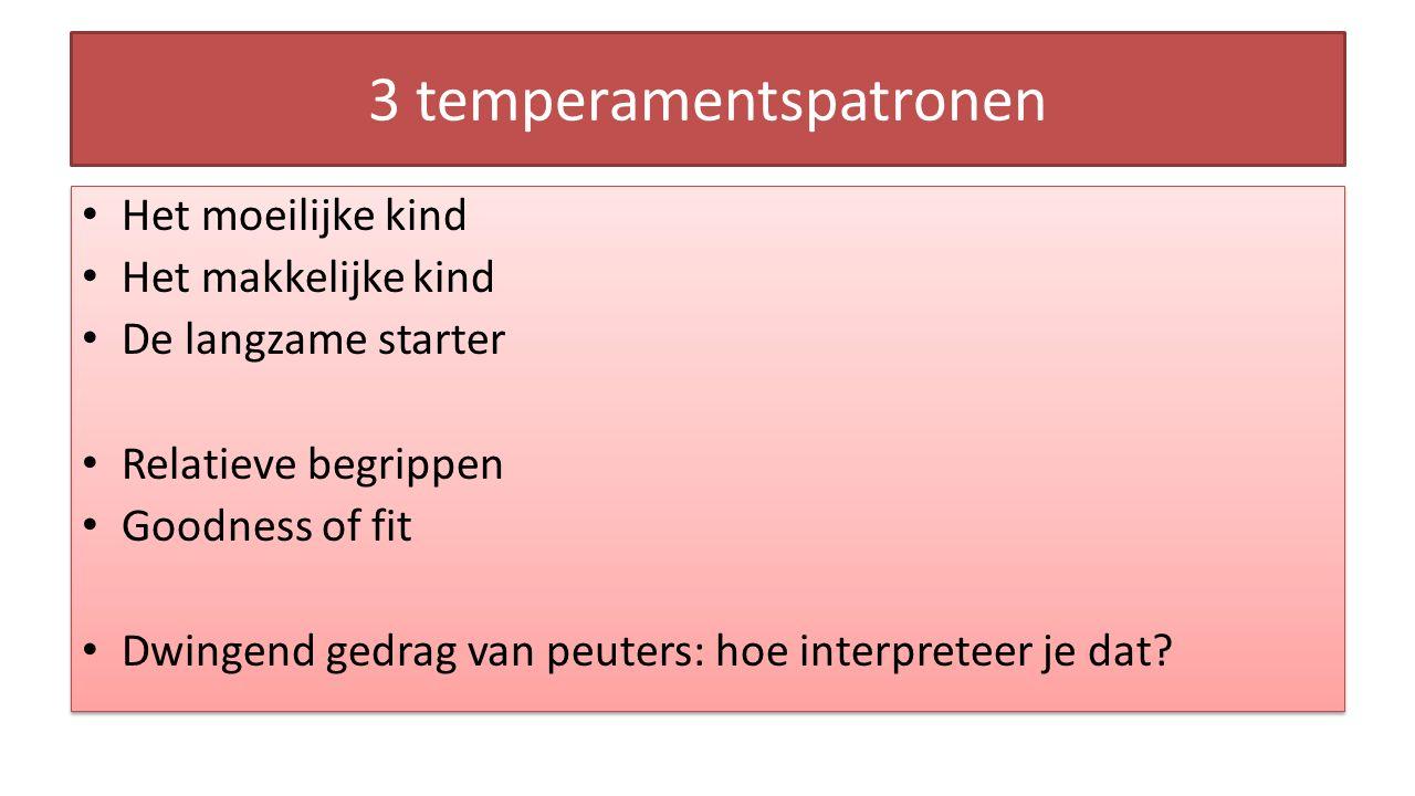 3 temperamentspatronen