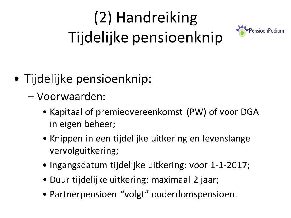 (2) Handreiking Tijdelijke pensioenknip