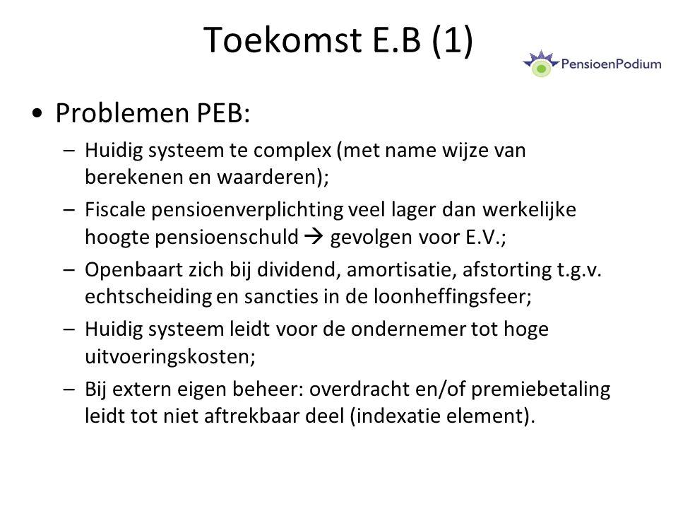Toekomst E.B (1) Problemen PEB: