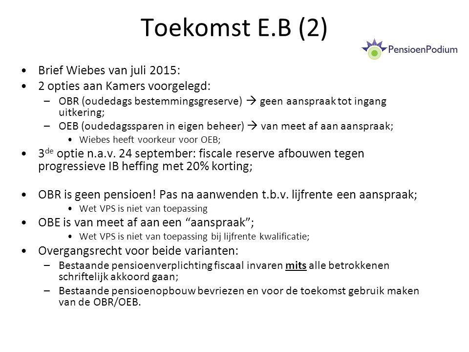 Toekomst E.B (2) Brief Wiebes van juli 2015: