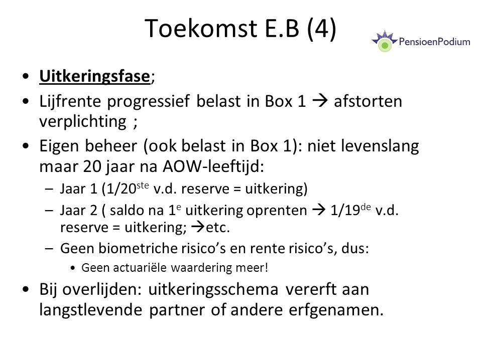 Toekomst E.B (4) Uitkeringsfase;