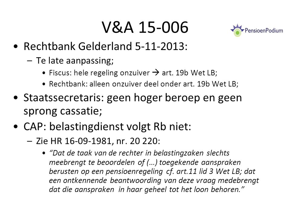 V&A 15-006 Rechtbank Gelderland 5-11-2013: