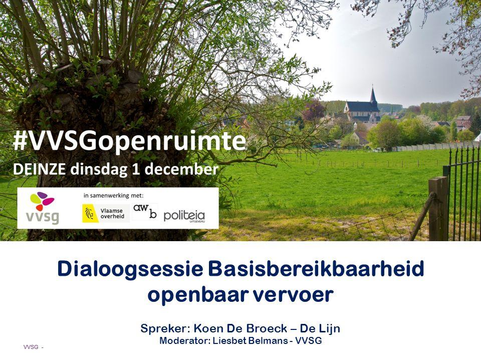 Dialoogsessie Basisbereikbaarheid openbaar vervoer