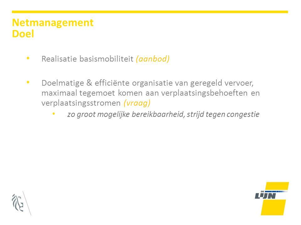 Netmanagement Doel Realisatie basismobiliteit (aanbod)