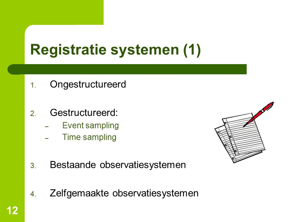 Registratie systemen (1)