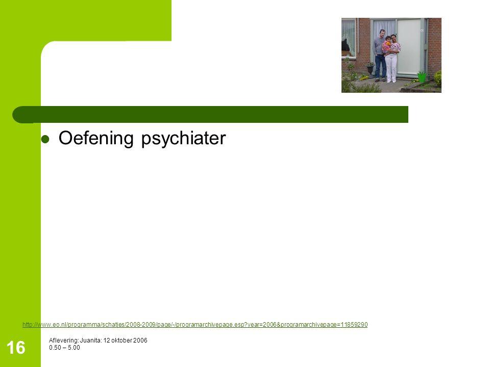 Oefening psychiater