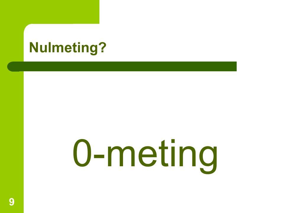 Nulmeting 0-meting