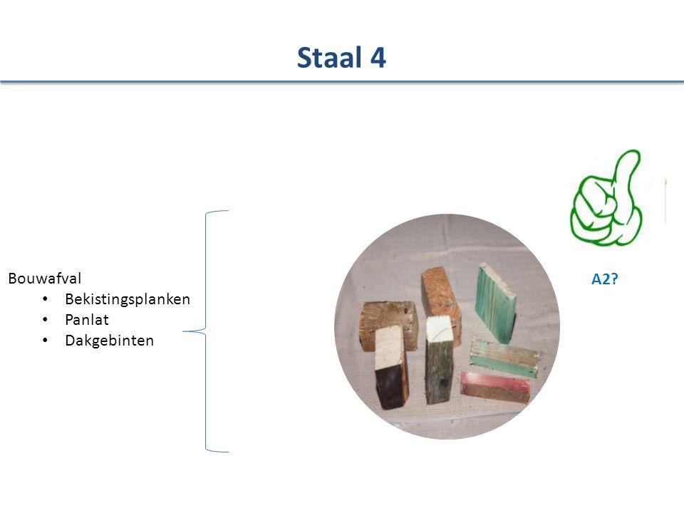 Staal 4 Bouwafval Bekistingsplanken Panlat Dakgebinten A2