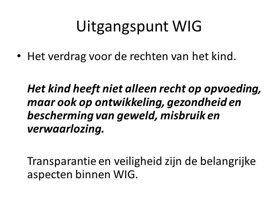 Uitgangspunt WIG Het verdrag voor de rechten van het kind.