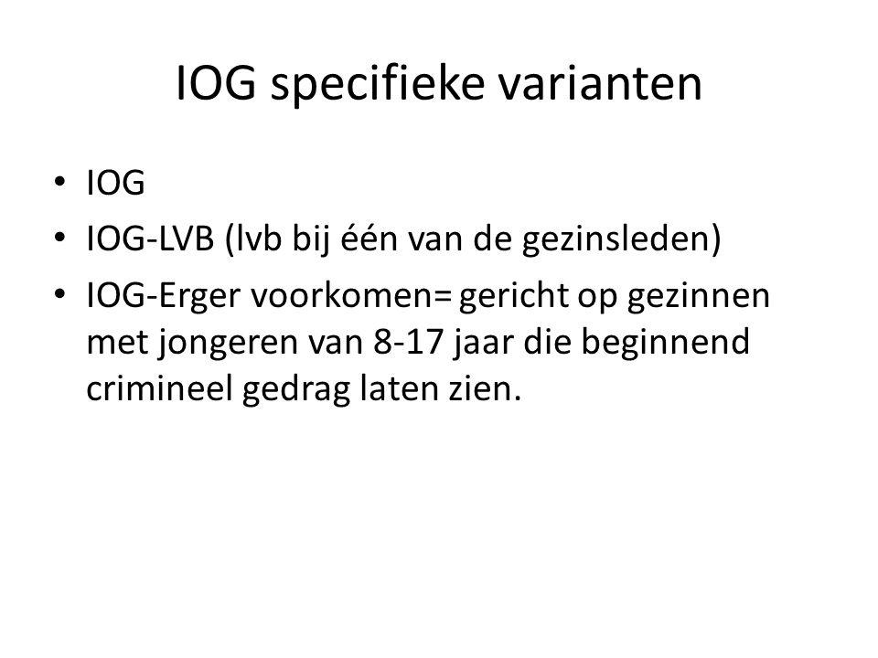 IOG specifieke varianten
