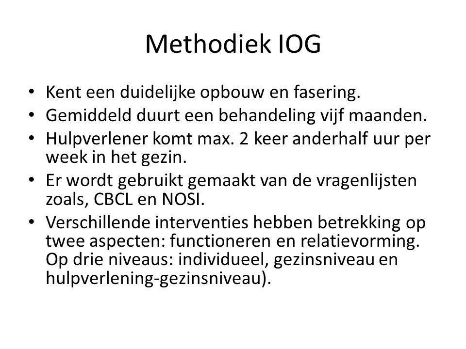 Methodiek IOG Kent een duidelijke opbouw en fasering.