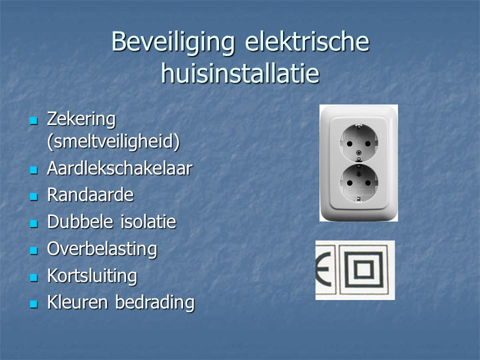 Beveiliging elektrische huisinstallatie