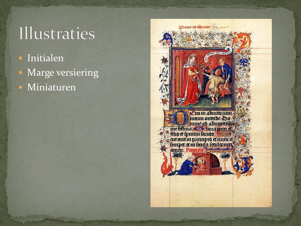 Illustraties Initialen Marge versiering Miniaturen