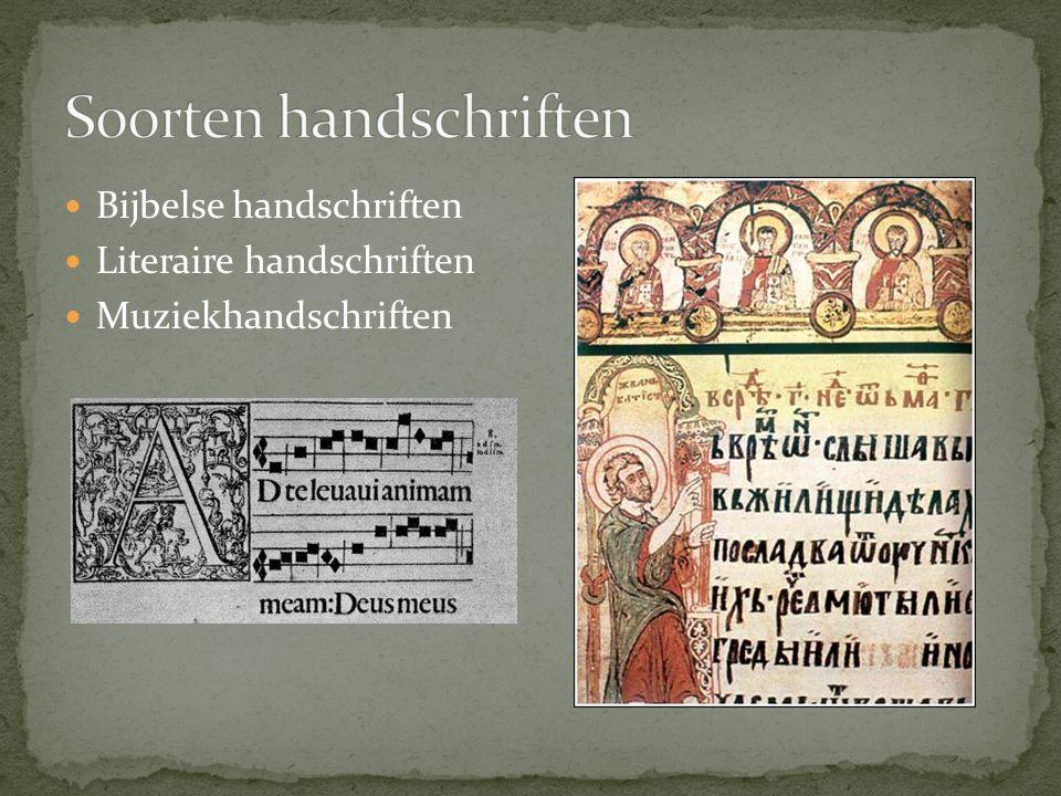 Soorten handschriften