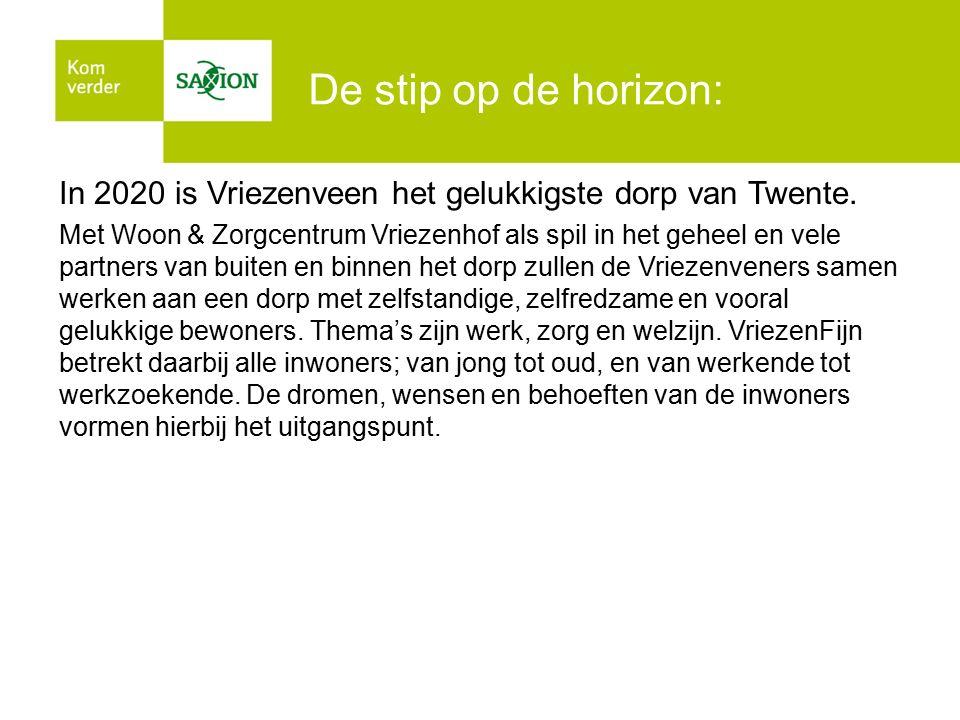 De stip op de horizon: In 2020 is Vriezenveen het gelukkigste dorp van Twente.