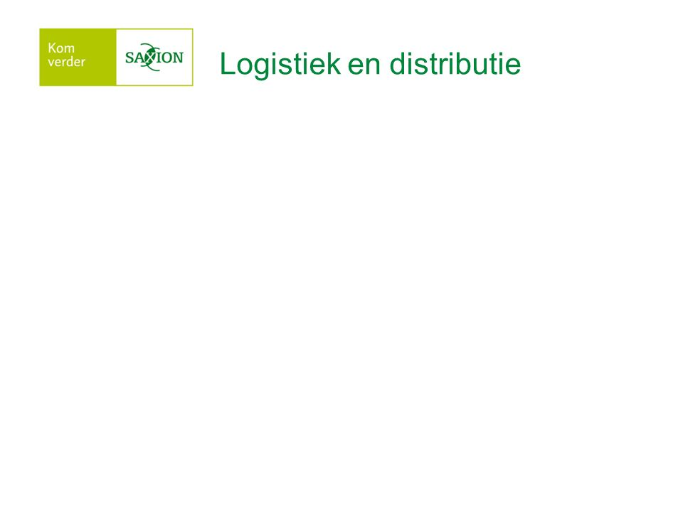 Logistiek en distributie