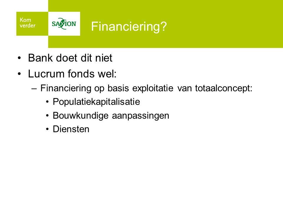 Financiering Bank doet dit niet Lucrum fonds wel: