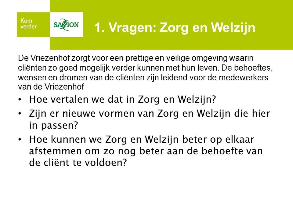 1. Vragen: Zorg en Welzijn