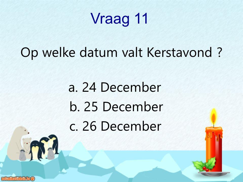 Op welke datum valt Kerstavond