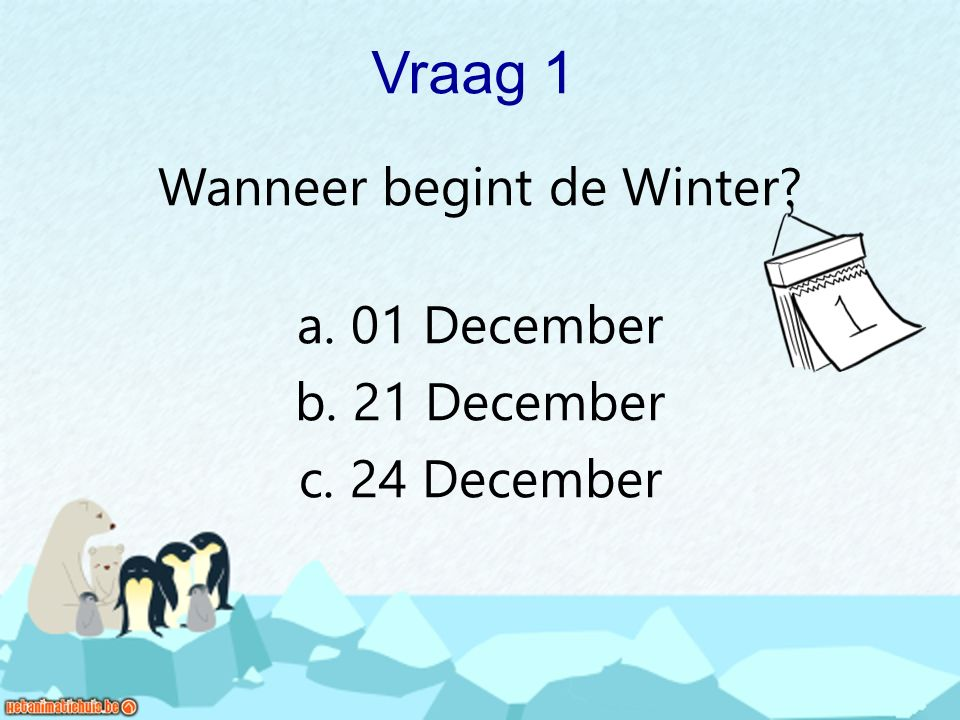 Wanneer begint de Winter