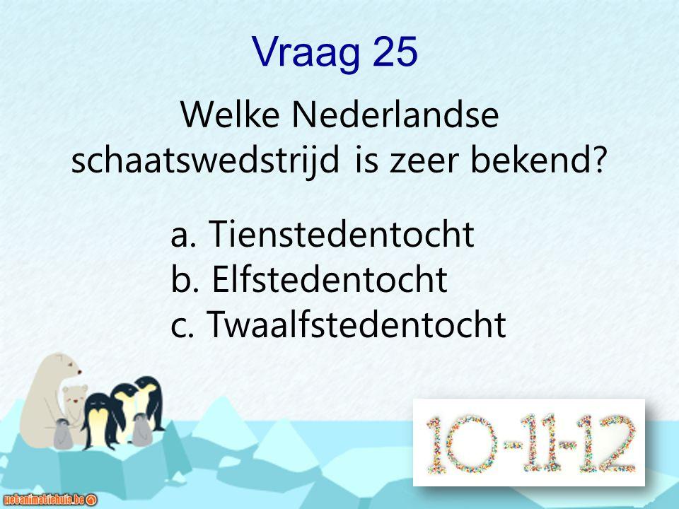 Welke Nederlandse schaatswedstrijd is zeer bekend