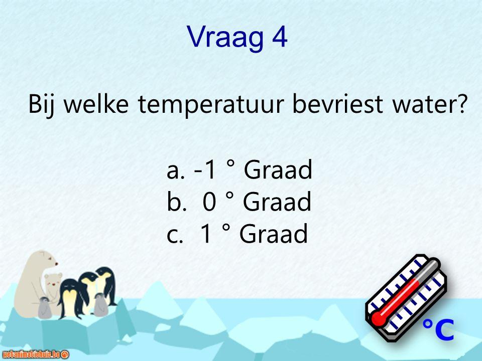 Bij welke temperatuur bevriest water
