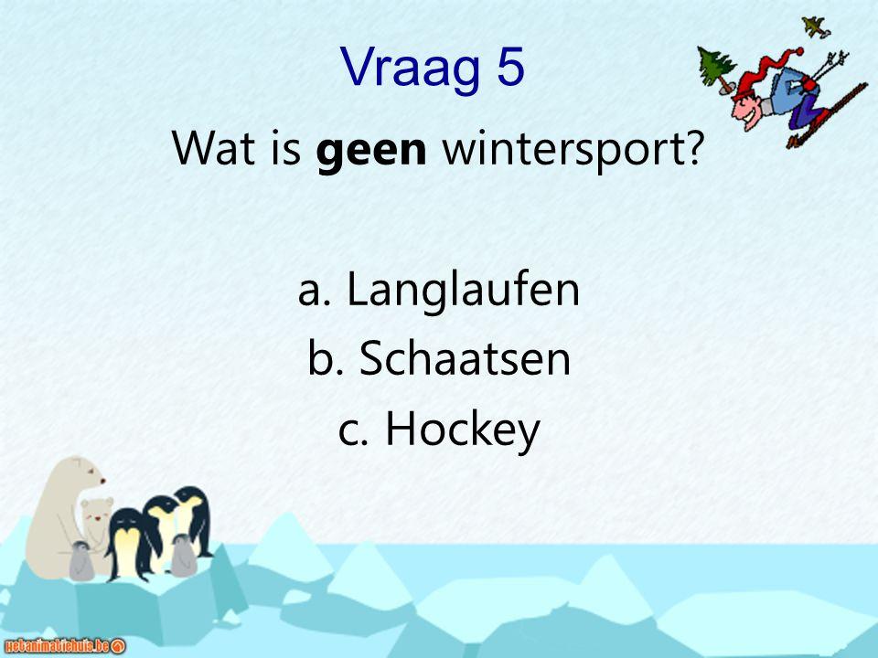Wat is geen wintersport