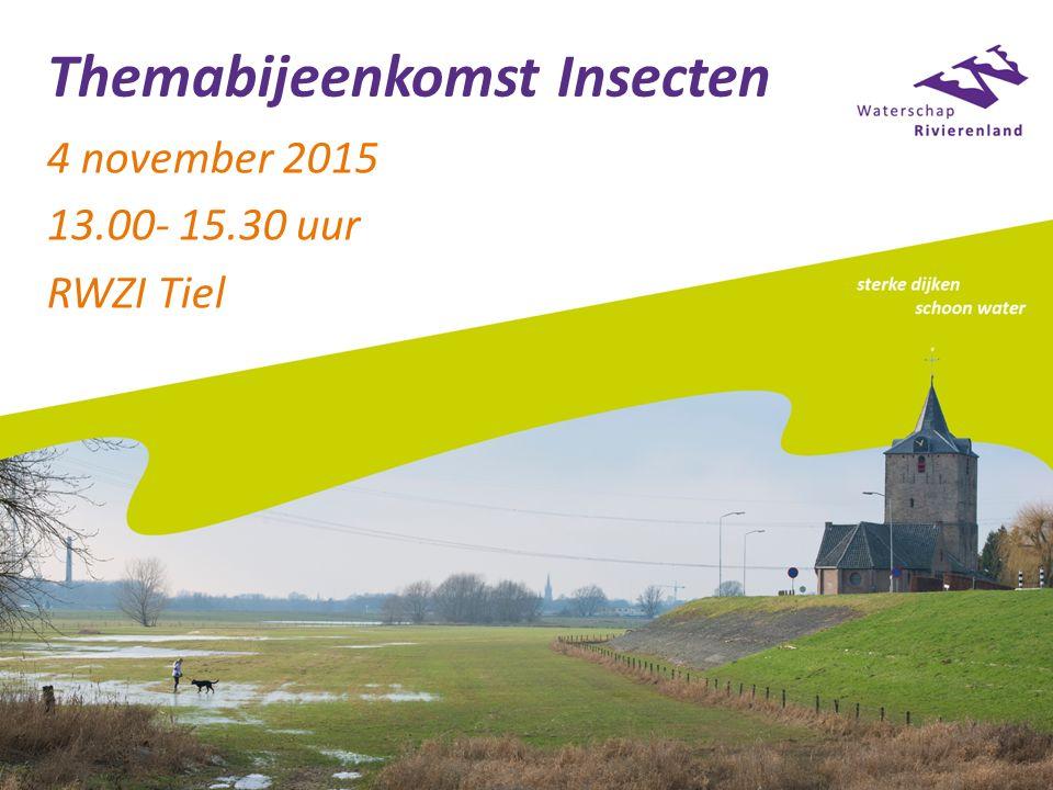 Themabijeenkomst Insecten