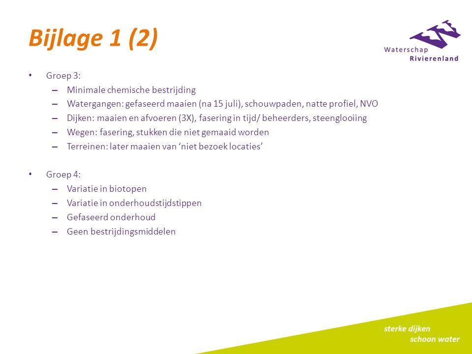 Bijlage 1 (2) Groep 3: Minimale chemische bestrijding