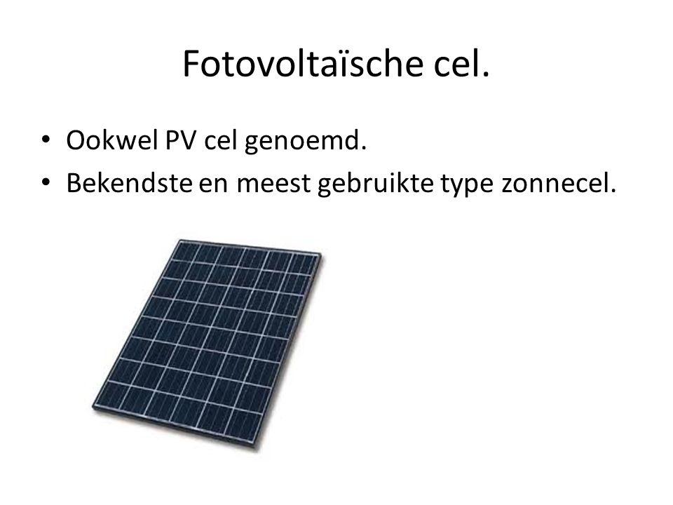 Fotovoltaïsche cel. Ookwel PV cel genoemd.