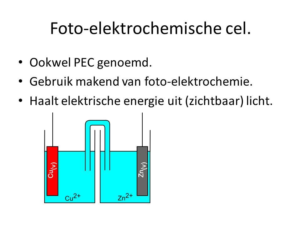Foto-elektrochemische cel.