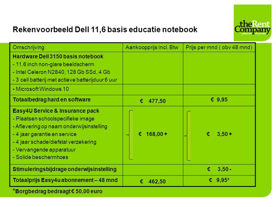 Rekenvoorbeeld Dell 11,6 basis educatie notebook