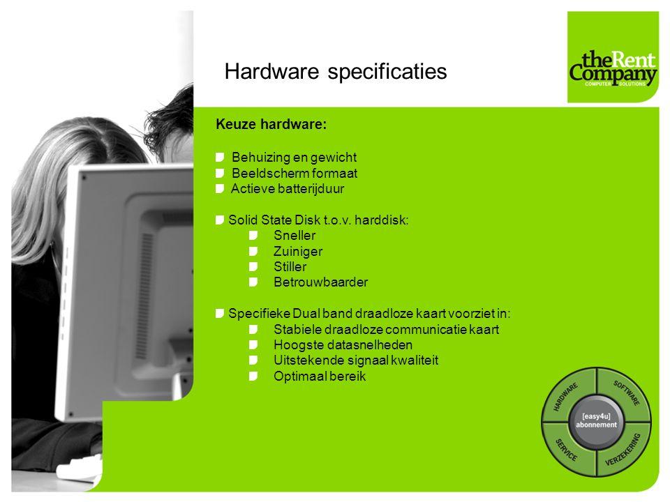 Hardware specificaties