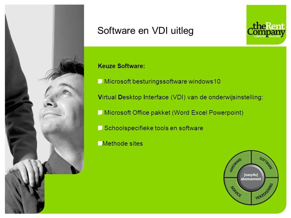 Software en VDI uitleg Microsoft besturingssoftware windows10