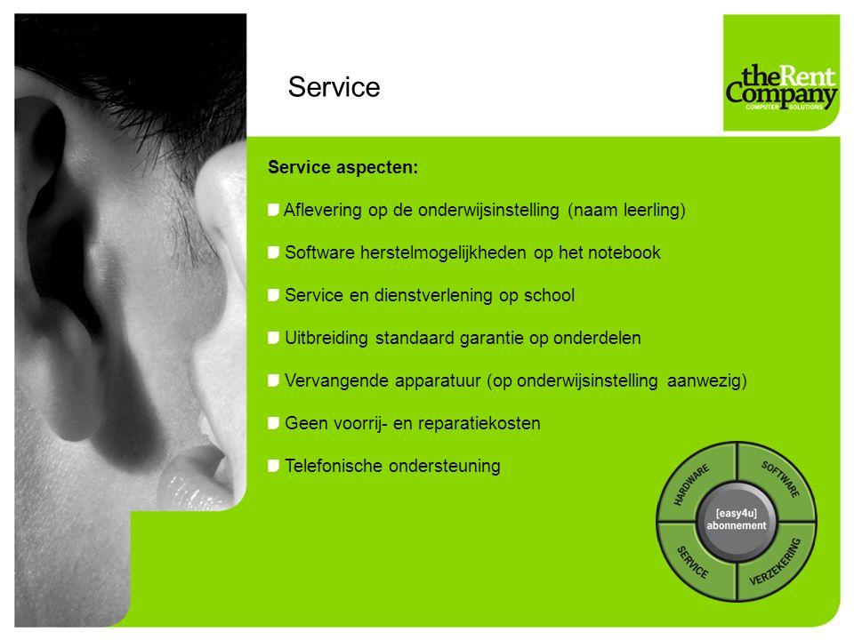 Service Service aspecten: