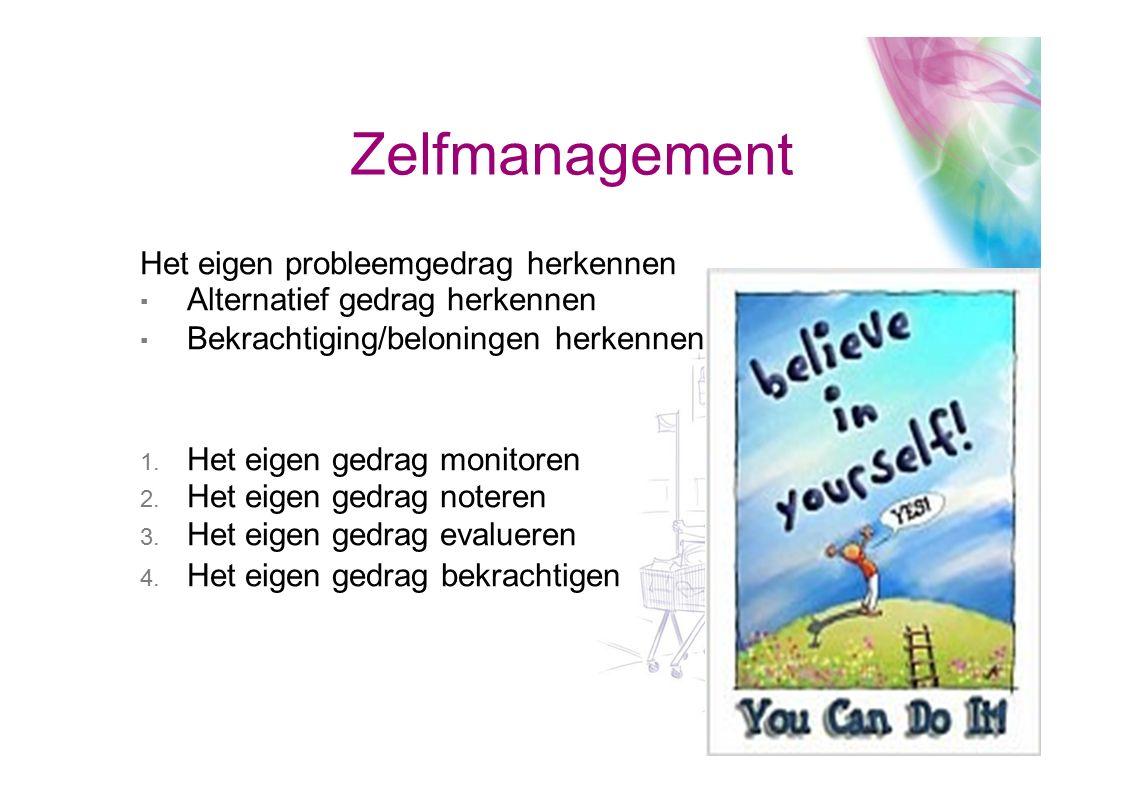 Zelfmanagement Het eigen probleemgedrag herkennen