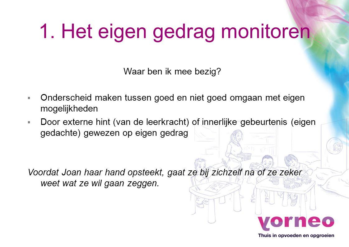 1. Het eigen gedrag monitoren