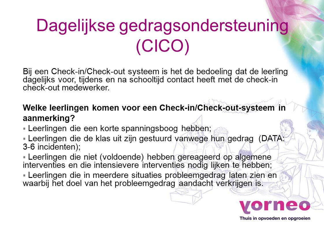 Dagelijkse gedragsondersteuning (CICO)