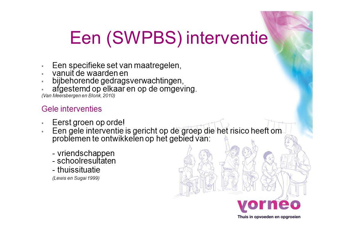 Een (SWPBS) interventie