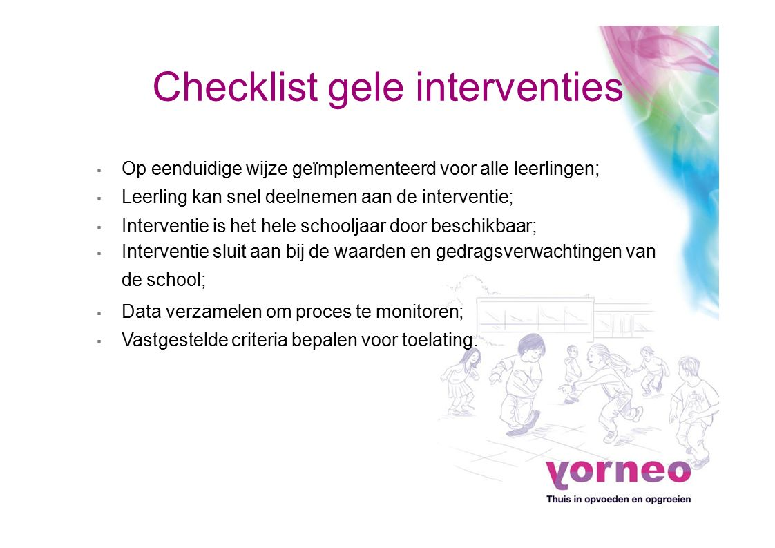 Checklist gele interventies