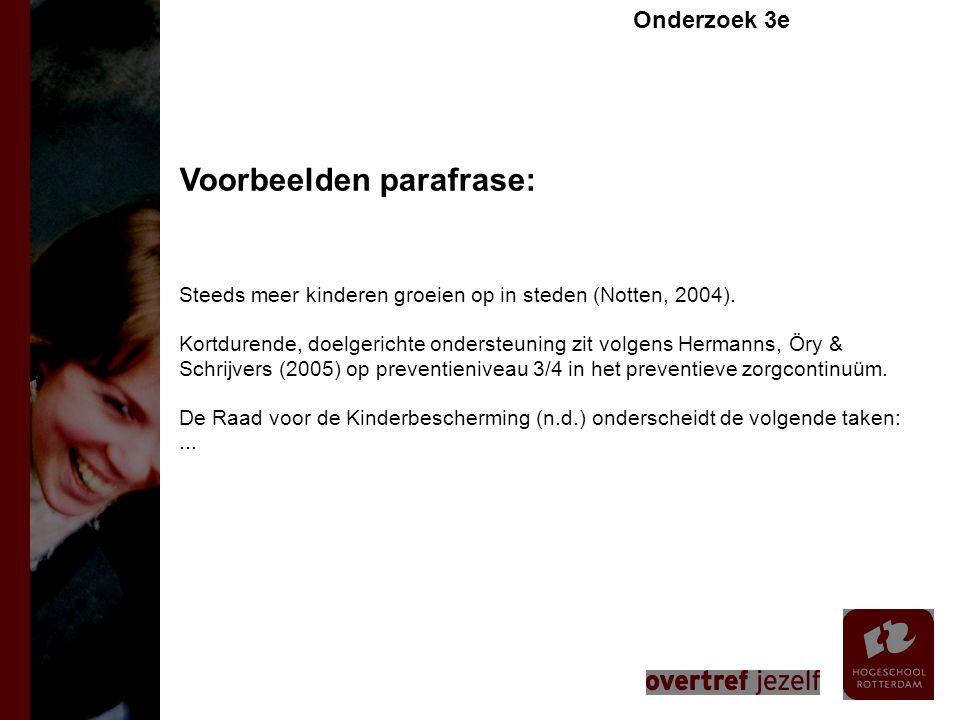 Voorbeelden parafrase:
