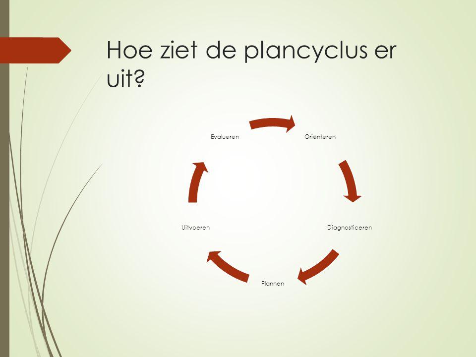 Hoe ziet de plancyclus er uit