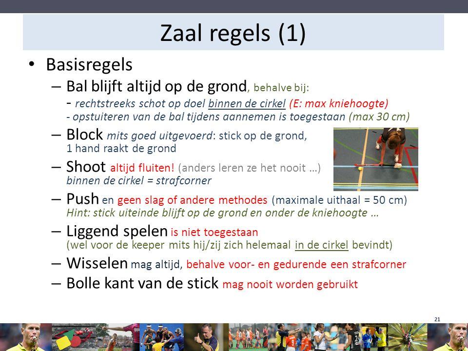 Zaal regels (1) Basisregels