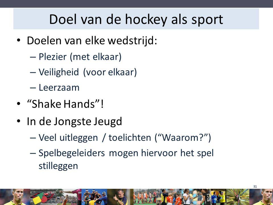 Doel van de hockey als sport