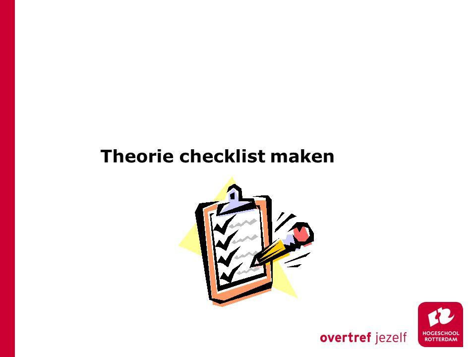 Theorie checklist maken