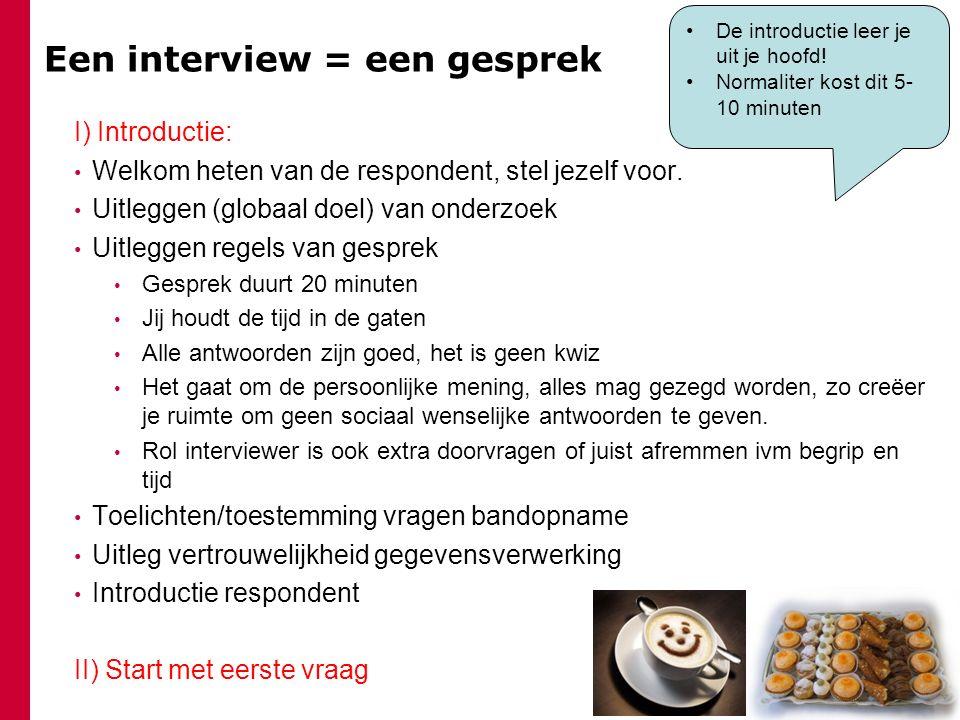 persoonlijk interview vragen