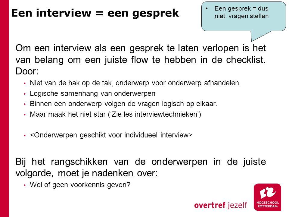 Een interview = een gesprek