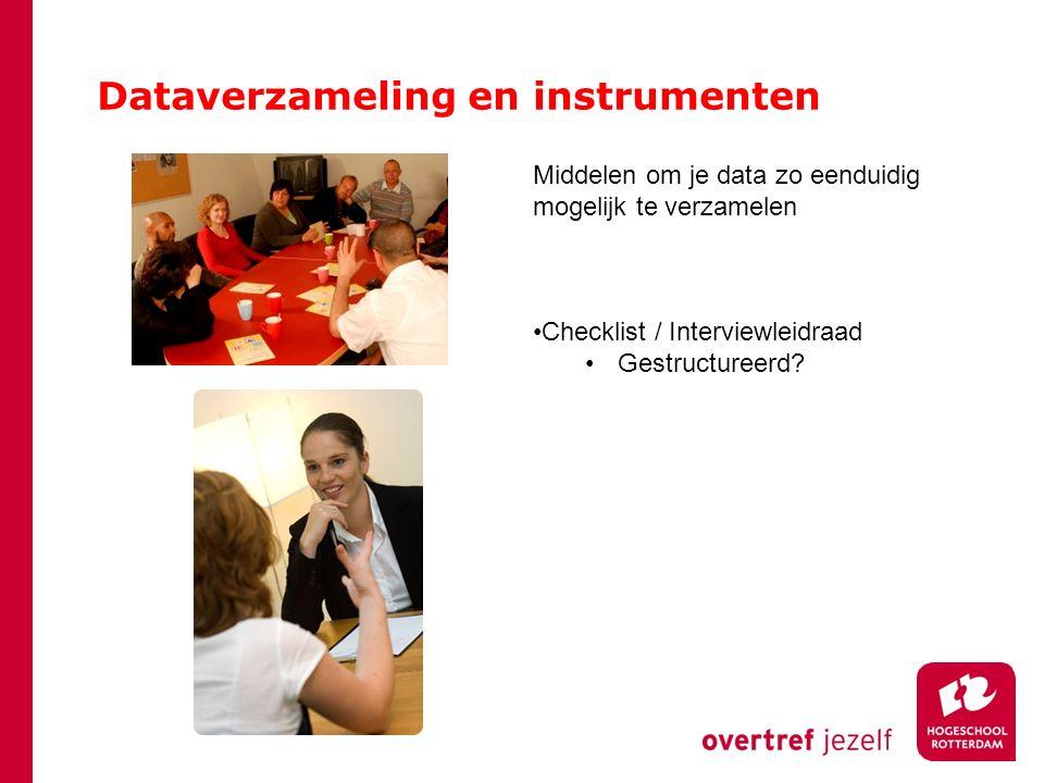 Dataverzameling en instrumenten